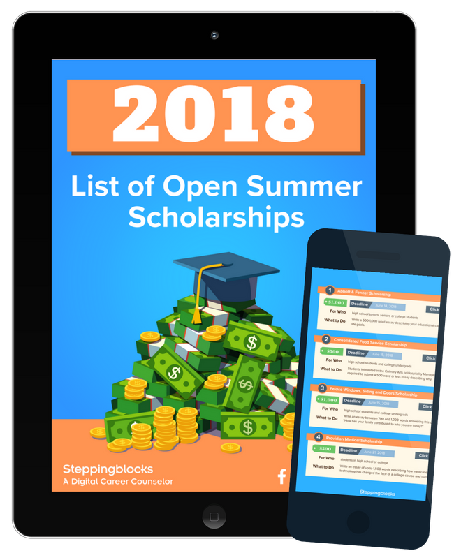 2018 List of Open Summer Scholarships